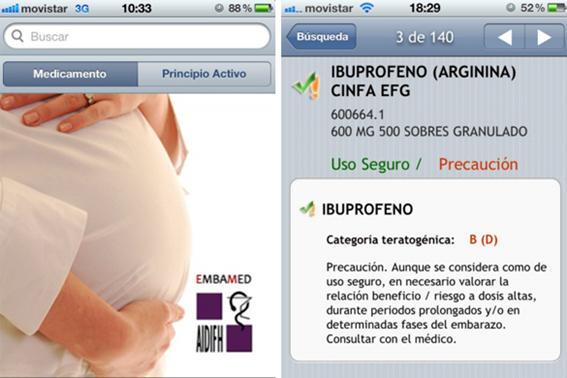 Medicamentos para embarazadas -APP
